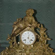 Relojes de carga manual: RELOJ SOBREMESA. CALAMINA. MÁQUINA PARÍS. EN MARCHA. SXIX. FRANCIA.. Lote 42250246