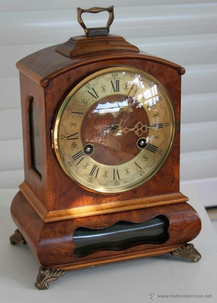 Antiguo reloj de sobremesa raiz nogal gabinet comprar - Relojes de sobremesa antiguos ...