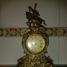 Relojes de carga manual: RELOJ BRONCE ANTIGUO SOBREMESA. Lote 42369870