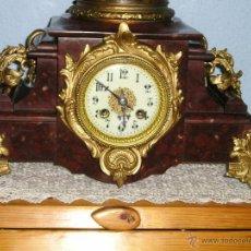 Relojes de carga manual: PRECIOSO RELOJ DE MARMOL MAQUINA PARIS ,. Lote 198599723