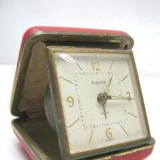 Relojes de carga manual: RELOJ DESPERTADOR VIAJE EUROPA 2 JEWELS AÑOS 50. Lote 43238876