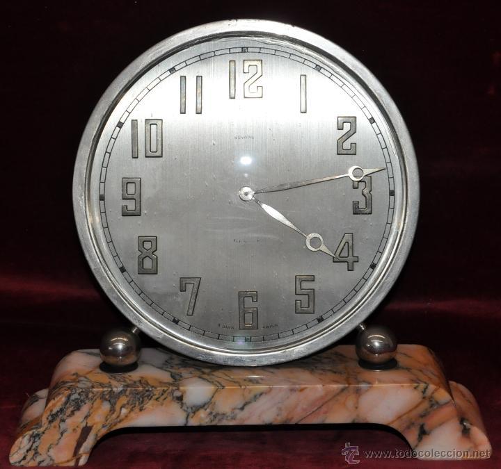 RELOJ DE SOBREMESA DUWARD. ÉPOCA ART DECO (Relojes - Sobremesa Carga Manual)