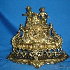 Relojes de carga manual: - RELOJ SOBREMESA DE BRONCE CON MAQUINARIA DE CARGA MANUAL - FUNCIONA. Lote 43634788