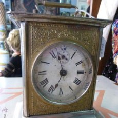 Relojes de carga manual: ANTIGUO RELOJ SOBREMESA O DE CARRUAJE-MAQUINARIA JUNGHANS-METAL CROMADO-DESPERTADOR-ORIGINAL S. XIX. Lote 44222888
