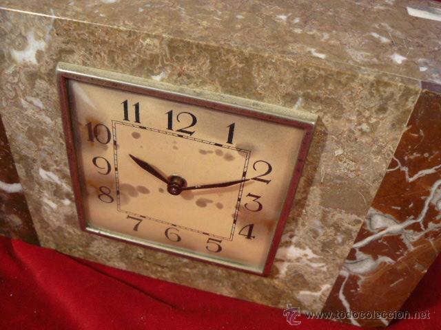 Relojes de carga manual: RELOJ DE MARMOL ESTILO DECO - Foto 2 - 44278626