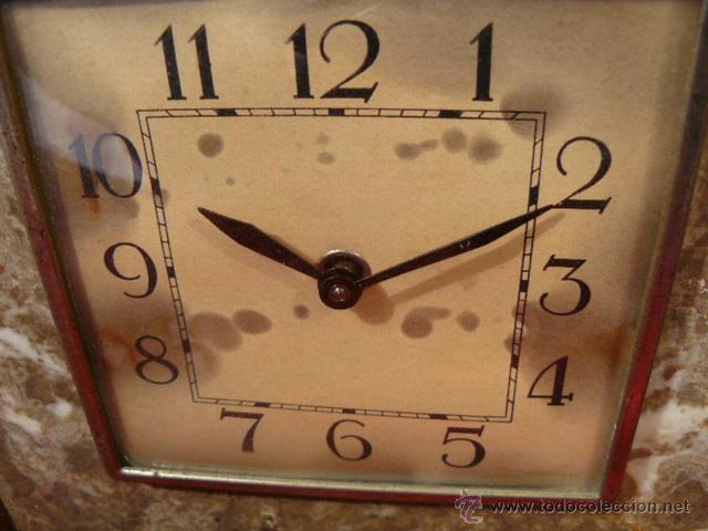 Relojes de carga manual: RELOJ DE MARMOL ESTILO DECO - Foto 3 - 44278626