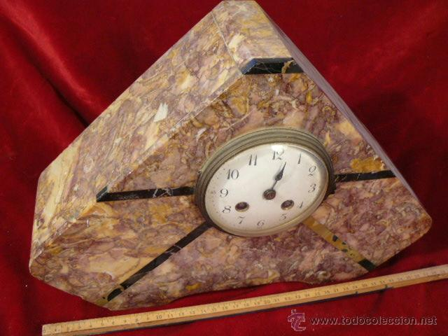 RELOJ DE MARMOL ESTILO DECO (Relojes - Sobremesa Carga Manual)