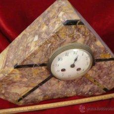 Relojes de carga manual: RELOJ DE MARMOL ESTILO DECO. Lote 44278638