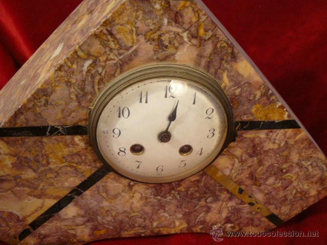 Relojes de carga manual: RELOJ DE MARMOL ESTILO DECO - Foto 2 - 44278638