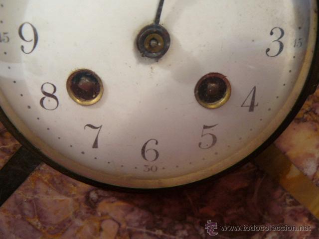 Relojes de carga manual: RELOJ DE MARMOL ESTILO DECO - Foto 6 - 44278638