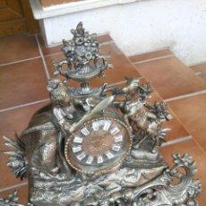 Relojes de carga manual: RELOJ ART DECO. BRONCE PLATEADO CON FIGURA MUJER AÑOS 20. Lote 44330898