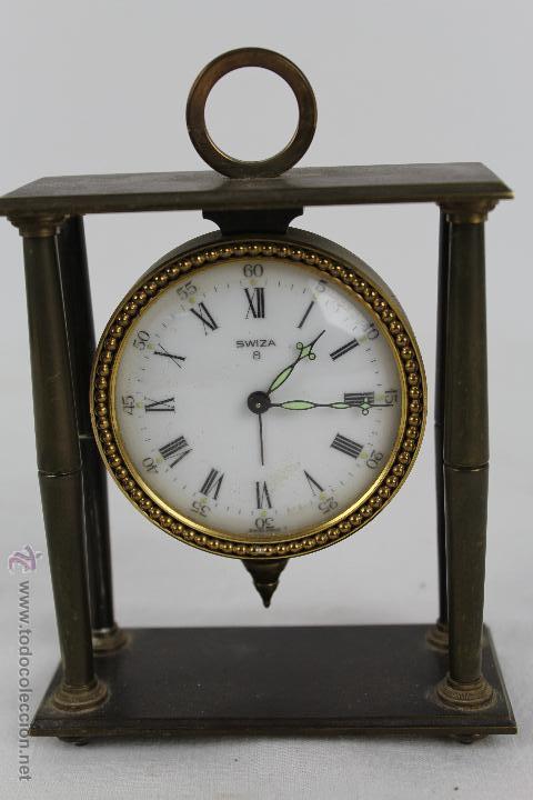 cda19ec6dfd1 Antiguo reloj despertador swiza 8 días. cuerda. - Vendido en Subasta ...