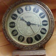 Relojes de carga manual: PRECIOSO RELOJ EUROPA - 7 JEWELS - ESFERA 75 MM - CUERDA. Lote 45499636