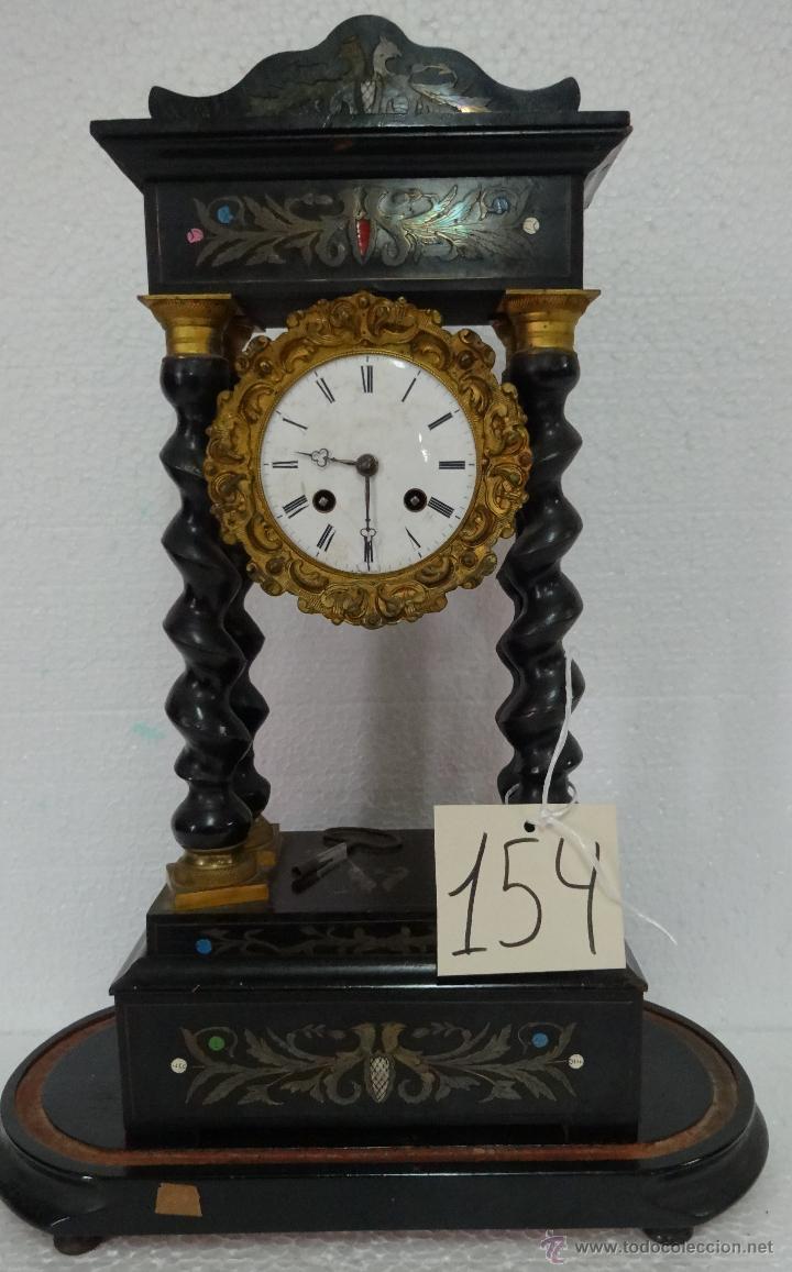 Relojes de carga manual: RELOJ DE PÓRTICO DE SOBREMESA ESTILO NAPOLEÓN III, 6000-154 - Foto 13 - 43451948