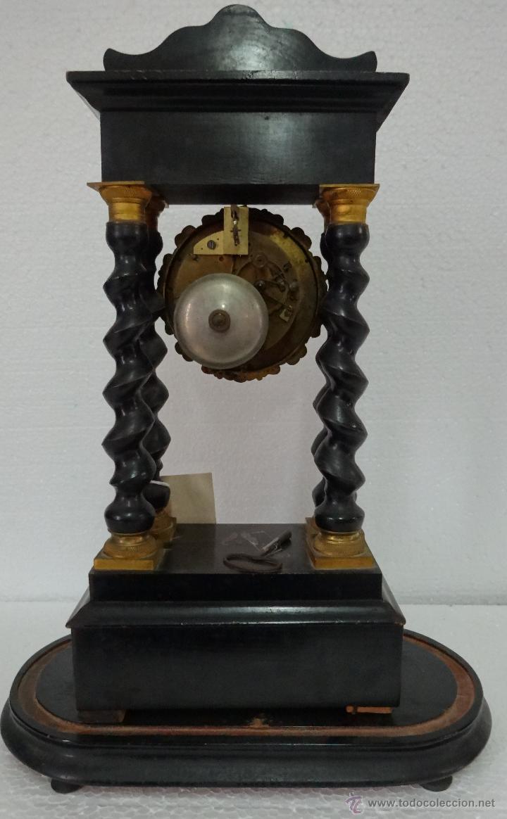 Relojes de carga manual: RELOJ DE PÓRTICO DE SOBREMESA ESTILO NAPOLEÓN III, 6000-154 - Foto 16 - 43451948