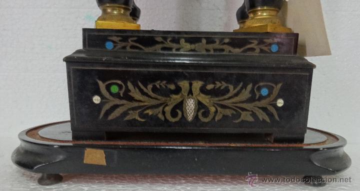 Relojes de carga manual: RELOJ DE PÓRTICO DE SOBREMESA ESTILO NAPOLEÓN III, 6000-154 - Foto 18 - 43451948