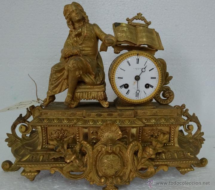 Relojes de carga manual: RELOJ DE SOBREMESA DE ESTILO FRANCÉS SIGLO XIX, 6000-173 - Foto 2 - 45678485