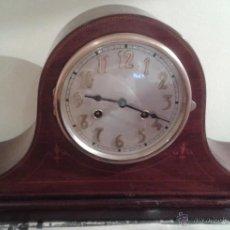 Relojes de carga manual: RELOJ SOBREMESA FRANZ HERMLE A CUERDA CON CAJA MARQUETERIA - MADE IN GERMANY AÑOS 50. Lote 46174040