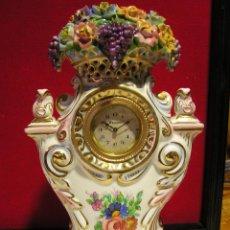 Relojes de carga manual: PRECIOSO RELOJ DE CERAMICA FUNCIONANDO Y EN BUEN ESTADO. Lote 46221892