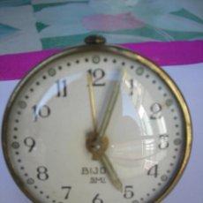 Relojes de carga manual: ANTIGUO RELOJ DESPERTADOR - A CUERDA - BIJOU SMI - FRANCÉS - 56 MM DIÁMETRO ** A REVISAR TODO **. Lote 49269860