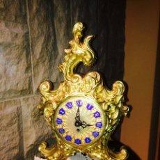 Relojes de carga manual: RELOJ DE SOBREMESA DE BRONCE DE CUERDA. Lote 46316335