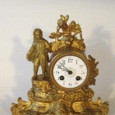 Relojes de carga manual: RELOJ DE SOBREMESA DORADO AL MERCURIO. Lote 46517521