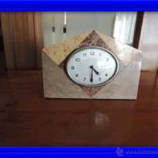 Relojes de carga manual: PEQUEÑO RELOJ DE MARMOL ART DECO. Lote 46620115