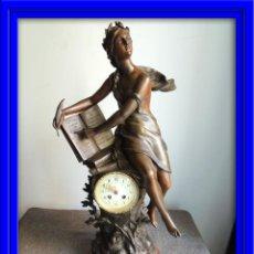 Relojes de carga manual: FANTASTICO RELOJ DE CALAMINA FIRMADO POR SERRES PERFECTO ESTADO. Lote 46627943