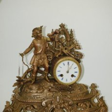 Relojes de carga manual: RELOJ SOBREMESA. CALAMINA. MÁQUINA PARÍS. EN MARCHA. SXIX. FRANCIA.. Lote 46682757