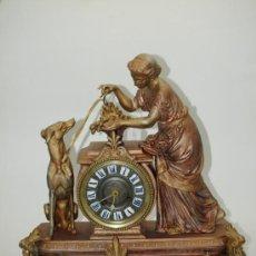 Relojes de carga manual: RELOJ SOBREMESA. CALAMINA MÁQUINA PARÍS. EN MARCHA. SXIX. FRANCIA.. Lote 46683104