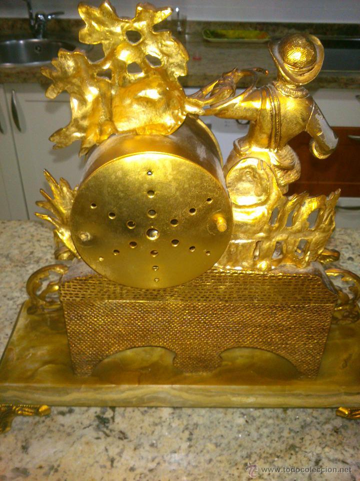 Relojes de carga manual: IMPONENTE RELOJ SOBREMESA ALEMAN CON GUARNICION EN BAÑO BRONCE AL MERCURIO - Foto 7 - 46936051