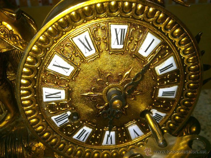 Relojes de carga manual: IMPONENTE RELOJ SOBREMESA ALEMAN CON GUARNICION EN BAÑO BRONCE AL MERCURIO - Foto 8 - 46936051