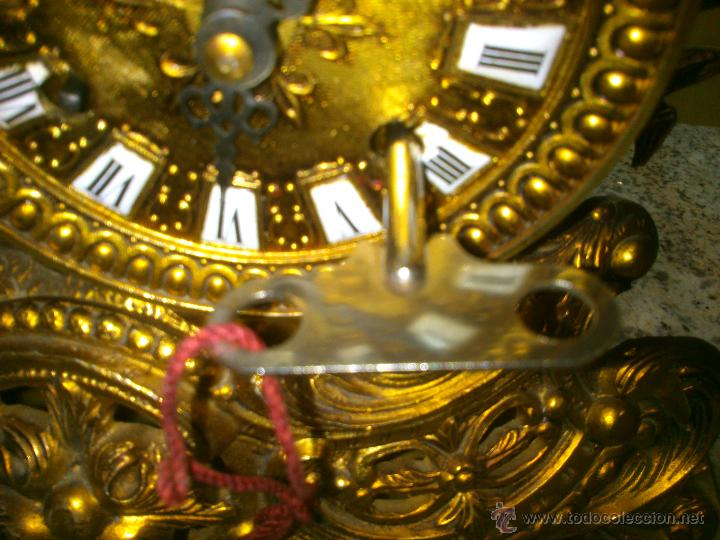 Relojes de carga manual: IMPONENTE RELOJ SOBREMESA ALEMAN CON GUARNICION EN BAÑO BRONCE AL MERCURIO - Foto 9 - 46936051