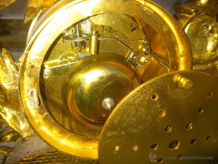 Relojes de carga manual: IMPONENTE RELOJ SOBREMESA ALEMAN CON GUARNICION EN BAÑO BRONCE AL MERCURIO - Foto 10 - 46936051
