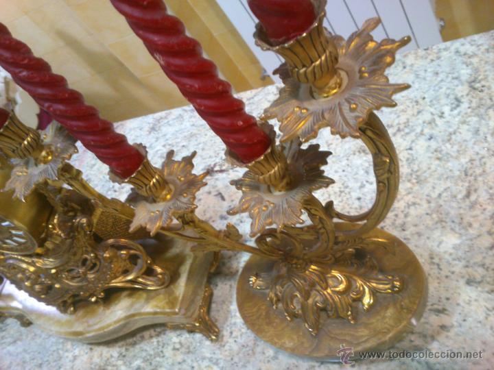 Relojes de carga manual: IMPONENTE RELOJ SOBREMESA ALEMAN CON GUARNICION EN BAÑO BRONCE AL MERCURIO - Foto 13 - 46936051