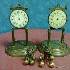 Relojes de carga manual: DOS RELOJES COLUMNAS KUNDO 400 DIAS PARA PIEZAS O RESTAURAR. Lote 47913796