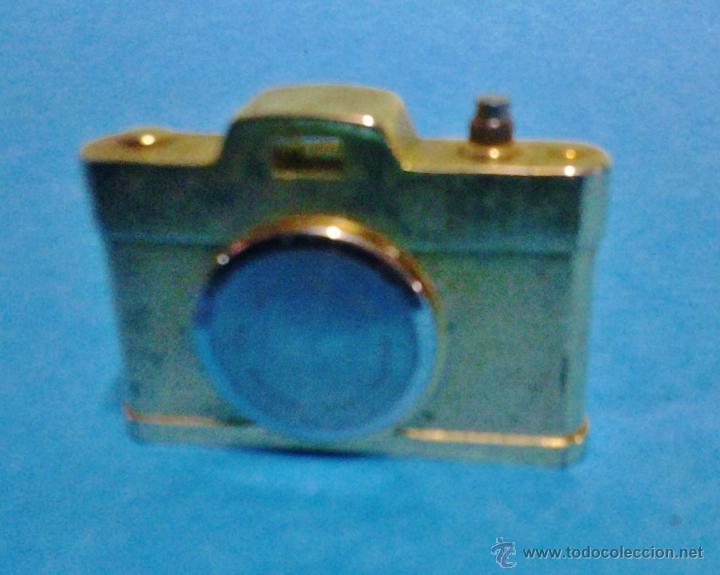 Relojes de carga manual: pieza de coleccionista - reloj sunstar en mini camara fotografica - metal dorado - funciona - foto - Foto 3 - 47965147
