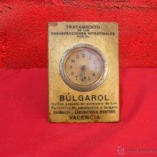 Relojes de carga manual: ANTIGUO RELOJ PUBLICIDAD BULGAROL,LABORATORIO MONTORO VALENCIA,FUNCIONANDO. Lote 48101193