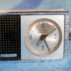Relojes de carga manual: RELOJ DESPERTADOR SUIZO CUERDA MINIATURA. CAUNY AÑOS 40-50 EN FUNCIONAMIENTO.. Lote 156687954