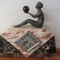 Relojes de carga manual: RELOJ FRANCÉS ART DECÓ DE SOBREMESA. Lote 48637295