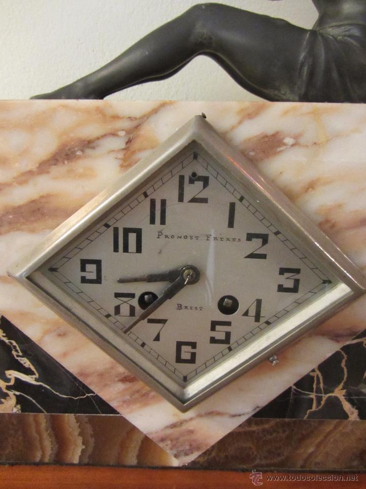 Relojes de carga manual: Reloj Francés Art Decó de Sobremesa - Foto 5 - 48637295