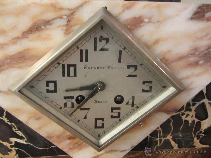 Relojes de carga manual: Reloj Francés Art Decó de Sobremesa - Foto 6 - 48637295