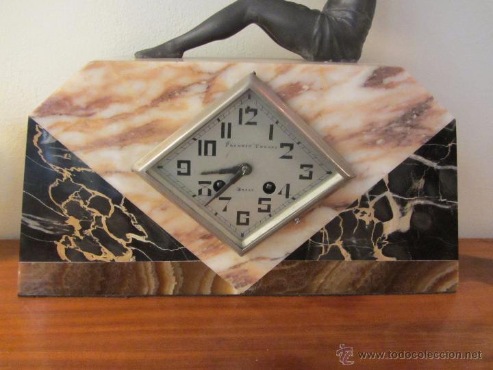 Relojes de carga manual: Reloj Francés Art Decó de Sobremesa - Foto 7 - 48637295
