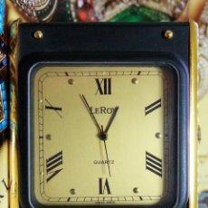 Relojes de carga manual: LEROY CUARZO SUIZO EXTRA-PLANO - BRONCE MACIZO CHAPADO EN ORO 18K.. Lote 48930464