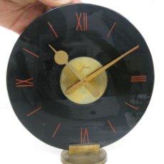 Relojes de carga manual: EXCEPCIONAL GRAN RELOJ ART DECO EN ONIX NEGRO Y LATON DORADO JANUS . Lote 68497017