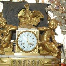 Relojes de carga manual: ESPECTACULAR RELOJ DE BRONCE BAÑADO EN ORO FINO. Lote 49336357