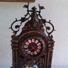Relojes de carga manual: RELOJ EN BRONCE DE SOBREMESA ANTIGUO.. Lote 147049208