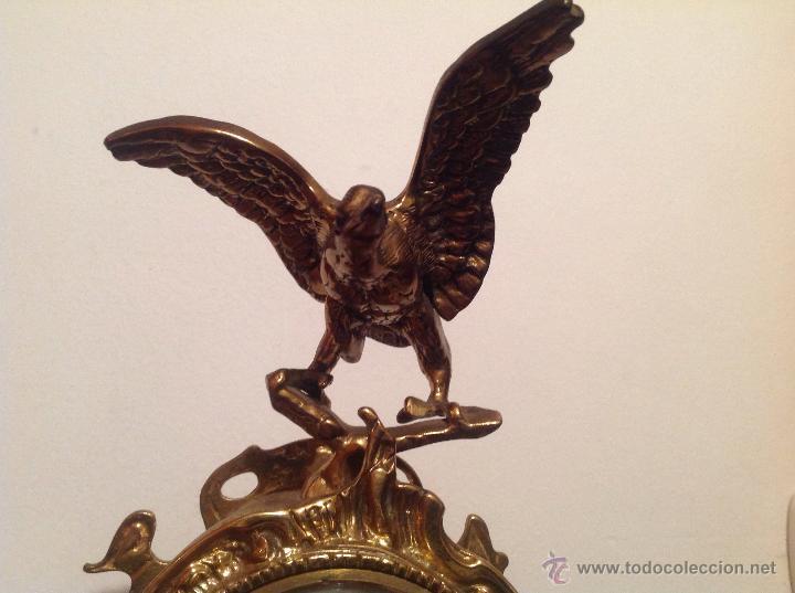 Relojes de carga manual: RELOJ DE SOBREMESA EN BRONCE DORADO - Foto 2 - 49474162