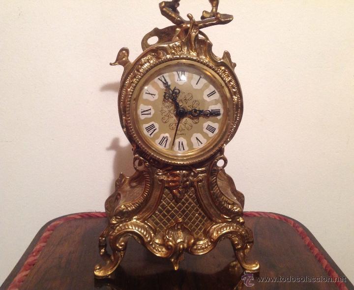 Relojes de carga manual: RELOJ DE SOBREMESA EN BRONCE DORADO - Foto 3 - 49474162