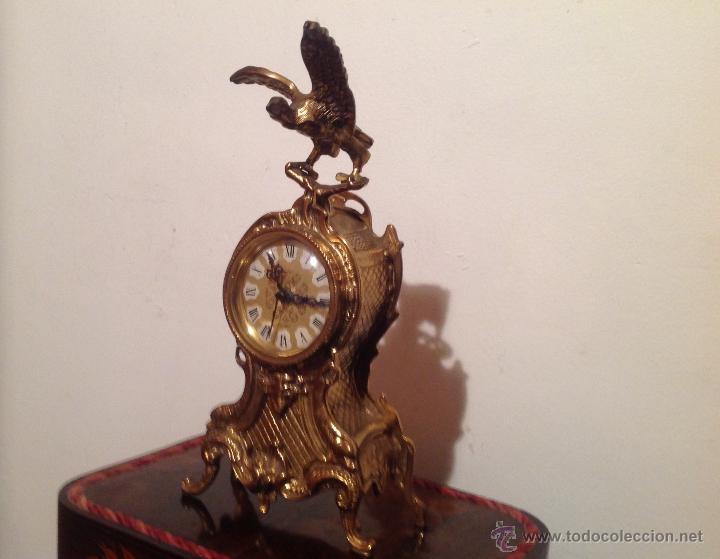 Relojes de carga manual: RELOJ DE SOBREMESA EN BRONCE DORADO - Foto 4 - 49474162
